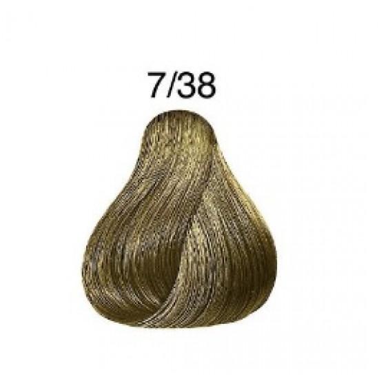 LONDA COLOR Vopsea permanenta 7/38, BLOND MEDIU AURIU PERLAT 60 ml