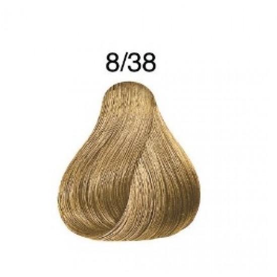 LONDA COLOR Vopsea permanenta 8/38, BLOND DESCHIS AURIU PERLAT 60 ml