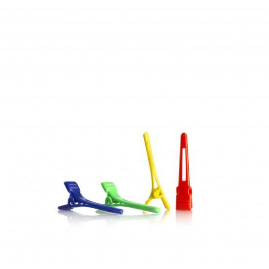 Clipsuri colorate din plastic pentru par
