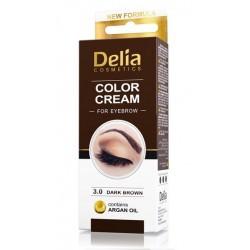 DELIA Vopsea crema pentru sprancene cu ulei de argan 3.0