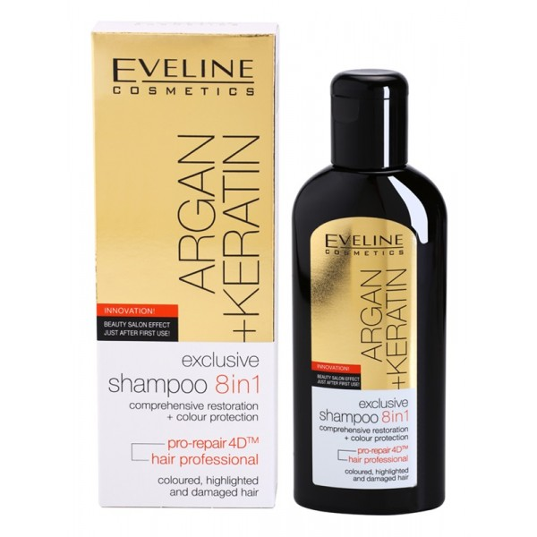Sampon 8 in 1 Eveline Cosmetics Argan + Keratin 150ml