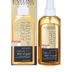 Ulei 8 in 1 Eveline Cosmetics Argan + Keratin 150ml
