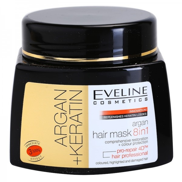 Masca 8 in 1 Eveline Cosmetics Argan + Keratin 500ml
