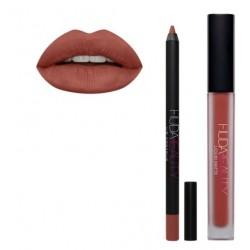 Kit ruj mat + creion contur Huda Beauty Trendsetter