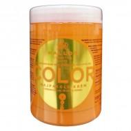KALLOS Masca de par cu ulei de seminte de in si filtru UV protector de culoare pentru par vopsit 1000ml