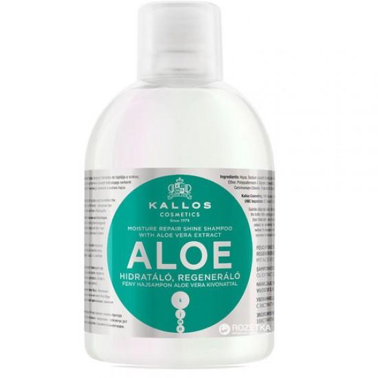 KALLOS Sampon hidratant, restructurant cu extract de Aloe Vera 1000ml