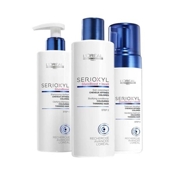 Set sampon, balsam, tratament-spuma L'Oreal Serioxyl 1