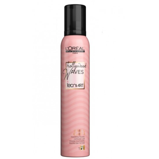 L'Oreal Professionnel Hollywood Waves Spiral Queen Spuma bucle 200ml