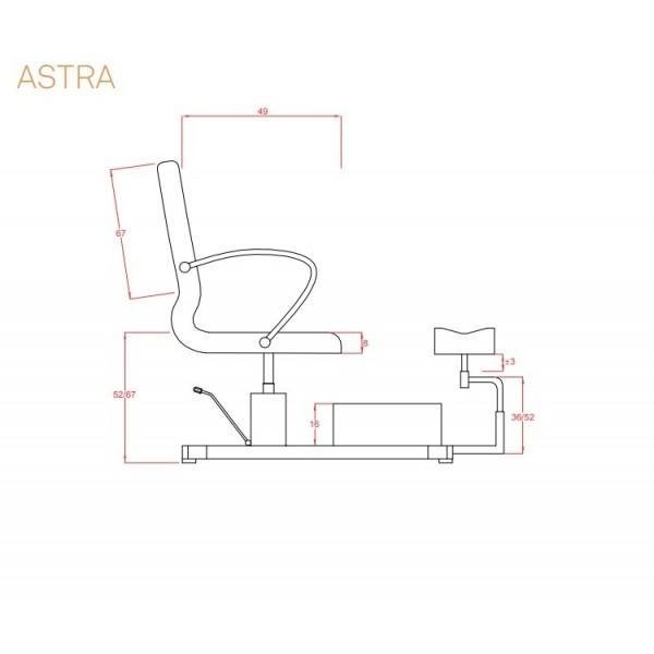 Complex pedichiura cu cadita ASTRA