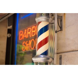 Semn luminos Barber Shop