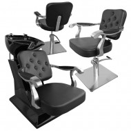 Set mobilier coafura Duo Elegance BLACK