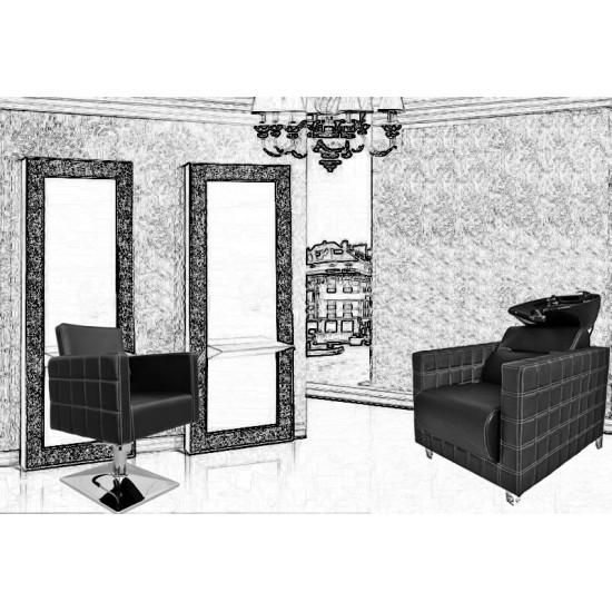 Pachet Dotare Salon Black Baroque Uno