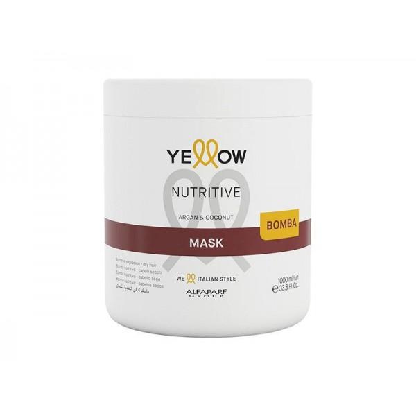 Masca nutritiva pentru par uscat Yellow Nutritive Mask Argan & Coconut 1000ml