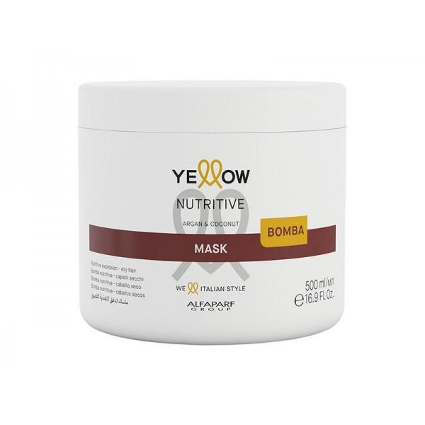 Masca nutritiva pentru par uscat Yellow Nutritive Mask Argan & Coconut 500ml