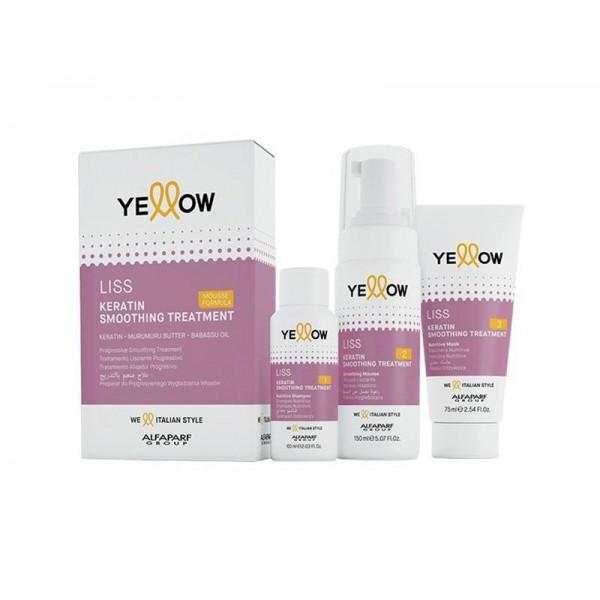 Pachet Tratament cu keratina pentru par Yellow Liss Smoothing