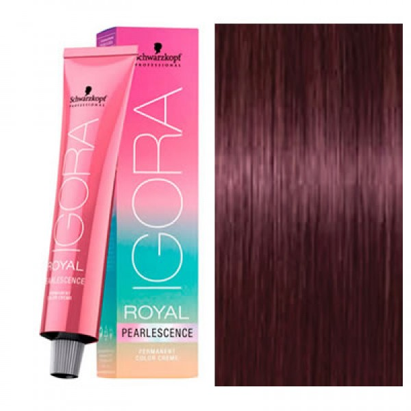 Vopsea permanenta de par Schwarzkopf Igora Royal Absolutes PEARLESCENCE  6-89 60ml