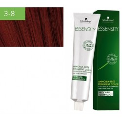 Schwarzkopf vopsea permanenta de par fara amoniac Essensity  3-8 SATEN INCHIS ROSU 60ml