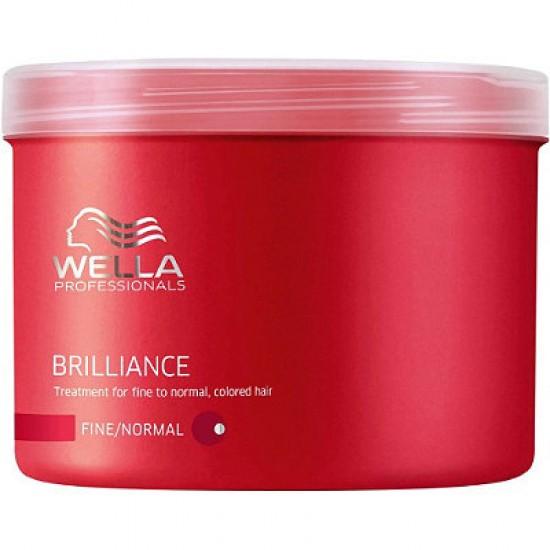 Masca tratament Wella Brilliance pentru par fin si normal 500ml