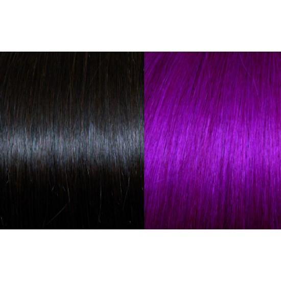 Extensii de par Clip-on 50-55cm culoarea 4-Red Violet